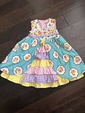 Jelly the Pug Girls Ruffle Layered Floral Dress Sz 5