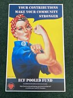 ROSIE THE RIVETER - VINTAGE POSTER 11 X 17 -Advertisement