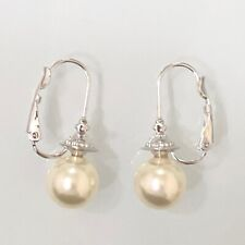VIVIENNE WESTWOOD MESSALINA CREAM PEARL EARRINGS