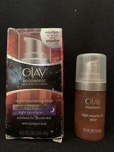 Olay Regenerist Anti-Aging Night Resurfacing Elixir, Daily Treatment (0.5 oz)