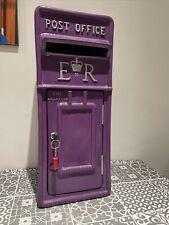 Cadbury Purple Fibreglass Replica Royal Mail Postbox - Weddings/events/hire
