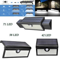 LED Solar Power PIR Motion Sensor Wall Light Outdoor Backyard Security Lamp IP65