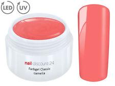 Color UV Gel LED FARBGEL CAMELIA French Modellage Nail Art Design Nagel Rosa Tip