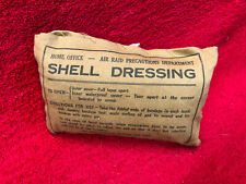 WW2 ARP  SHELL DRESSING BANDAGE,UNUSED FEBRUARY 1939.ORIGINAL.