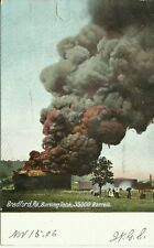 Bradford McKean PA Oil Tanks Fire Disaster Undivided 1906 Downs Easton Postcard