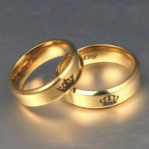 Rings Anelli Di Coppia In Acciaio Inossidabile Anelli Dell'amante Della Corona