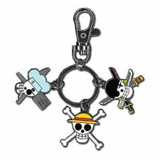 NEW One Piece NEW * Luffy, Sanji, Zoro Jolly Roger Keychain * Shonen Jump Anime