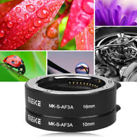 Meike Automatic Auto Focus 10mm 16mm Macro Extension Tube Set for Sony E Mount