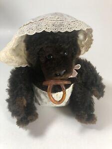 "Vintage Dakin Goo Goo Gorilla 8""  Plush Stuffed Baby Monkey Diaper Pacifier 1983"