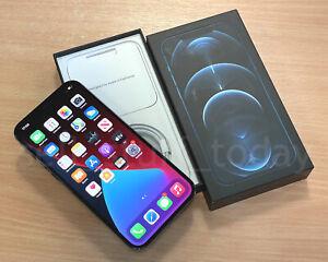 Apple iPhone 12 Pro Max (A2411), 256GB, UNLOCKED, Pacific Blue, VGC+box -490