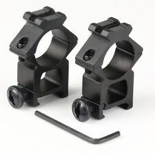 "2PCs High Profile 20mm Weaver Picatinny Rifle Scope Mounts 25.4mm 1"" inch Ring"
