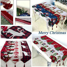 Table Runners Tablecloth Snowman Wedding Christmas Deer Xmas Party Dining Room