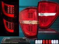 09-14 Ford F150 XL XLT STX FX4 Red G2 LED Tail Lights + 3rd Brake Light