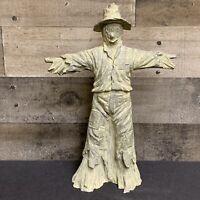 "12"" Resin Vintage Scarecrow Figure Statue"