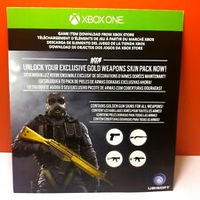 TOM CLANCY SIEGE GOLD WEAPONS SKIN PACK DLC ADD-ON GAME CONTENT XBOX ONE #145