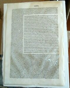 Incunable Manuscript  Printed in Venice 1492