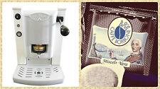Macchina Caffè Cialde Faber Slot Plast + 150 Cialde Caffè Borbone Qualità Nera