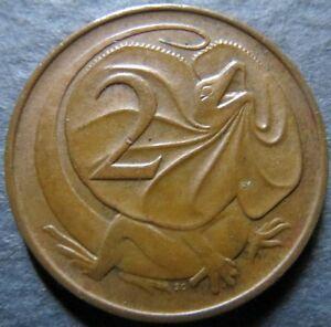 *AUSTRALIA, Vintage 1967  2 CENTS COIN, Queen E II Obverse Very Fine Circulated
