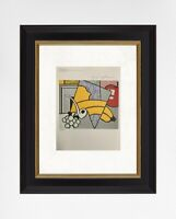 Roy Lichtenstein 1981 Original Print Hand Signed with Certificate. Resale $5,650
