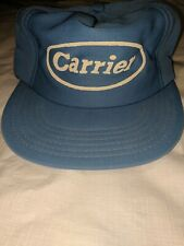 Vintage Carrier HVAC Snapback Hat Baby Blue USA