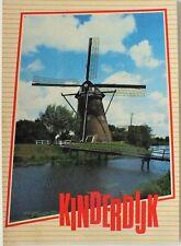 c1970's KINDERDIJK HOLLAND WINDMILL  PHOTO POSTCARD