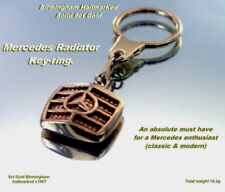 Mercedes Keyring Key Chain Radiator 9ct Gold Birmingham HM c1987 Fab Vintage