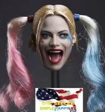 1/6 Harley Quinn head rooted hair Suicide Squad / hot toys Phicen ❶US IN STOCK❶