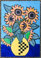 Original Painting Sunflowers Still Life Art Decorative, Vincent Van Gogh