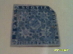 Nova Scotia Queen Victoria 3d blue imperf Top right corner missing