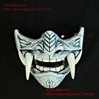 SAMURAI ONI AIRSOFT MASK MOTORCYCLE PAINTBALL HALF MEMPO COSTUME COSPLAY ARMOR #