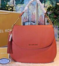NWT Michael Kors BEDFORD LG Tassel Conv Shoulder Crossbody Bag ANTIQUE ROSE$348