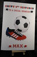 Personalised HandMade Football Birthday Card -  Son in law, Son, Brother in law