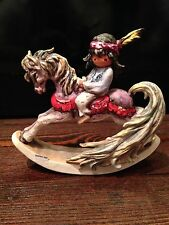 GOEBEL W.GERMANY DE GRAZIA BEAUTIFUL ROCKINGHORSE 1987 COLLECTIBLE FIGURINE
