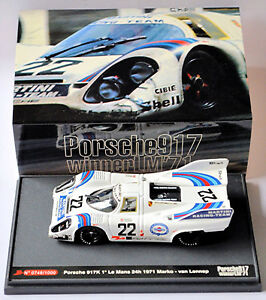 Porsche 917K Ganador de Lemans 1971 #22 Marko / Van Lennep 1:43 Brumm S08/05