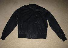 Vintage Men's Black Nylon Bomber Jacket c1986