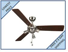 Harbor Breeze Exocet 48-in Brushed Nickel Indoor Ceiling Fan with Light Kit