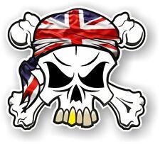 TESCHIO E Ossa Incrociate + TESTA Bandana & Union Jack British GB Bandiera