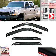 Window Visor Guard For 01-06 Chevy Silverado/GMC Sierra 1500/2500/3500 Crew Cab