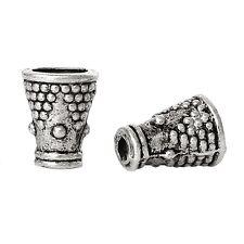 30x Perlenkappen Perlkappen Endkappen Horn für 4 mm Perlen Metall antiksilber