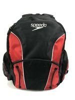 Speedo Large Red and Black Backpack Swim Bag Excellent Used Condition