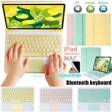 Wireless Touch Bluetooth Keyboard Case Leather Cover For iPad iOS Android Tablet