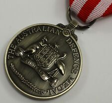 Superb Full Size Replica Australian Defence and Service Medal with Ribbon + Clip