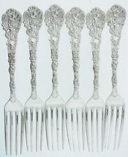 Vintage Antique Manchester Sterling Silver Versailles Lot (6) Dinner Forks