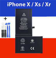BATTERIE INTERNE NEUVE 0 CYCLE POUR IPHONE  X  XR  XS + Outils + Adhesif