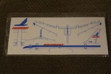 Piedmont Airlines Foam Flyer Airplane Vintage NEW