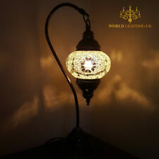 Turkish Lamp Light Tiffany Glass Desk Table Genuinely CE CERTIFIED