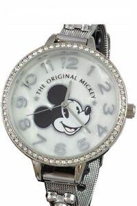 Disney Mickey Mouse Women's Watch w/Rhinestones by Accutime NWOT