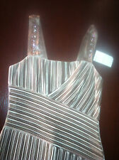 Anna Molinari Womans' Taupe Silk Evening Dress (Size 44) MSRP:  $1,498.00