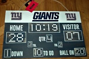 New York Giants Wood Scoreboard sign NEW with tags NFL Christmas gift man cave!!