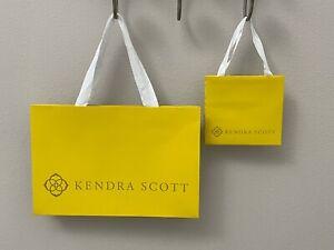 Authentic Kendra Scott Jewelry Gift Yellow Shopping Bag NEW